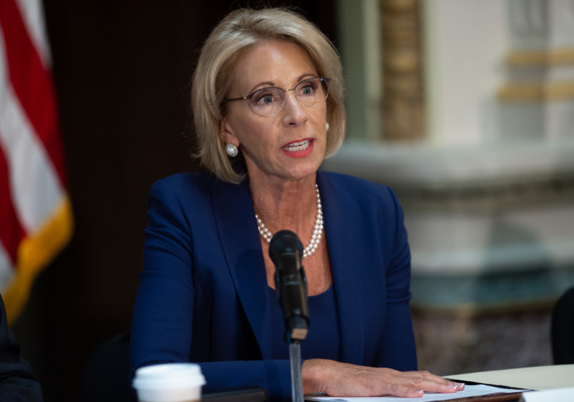 Education Secretary Betsy DeVos wants to change campus rules on sexual misconduct