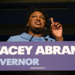 ATLANTA, GA - NOVEMBER 06:  Democratic Gubernatorial candidate Stacey Abrams addresses supporters at an election watch party on November 6, 2018 in Atlanta, Georgia.  Abrams and her opponent, Republican Brian Kemp, are in a tight race that is too close to call.  A runoff for Georgia's governor is likely.  (Photo by Jessica McGowan/Getty Images)