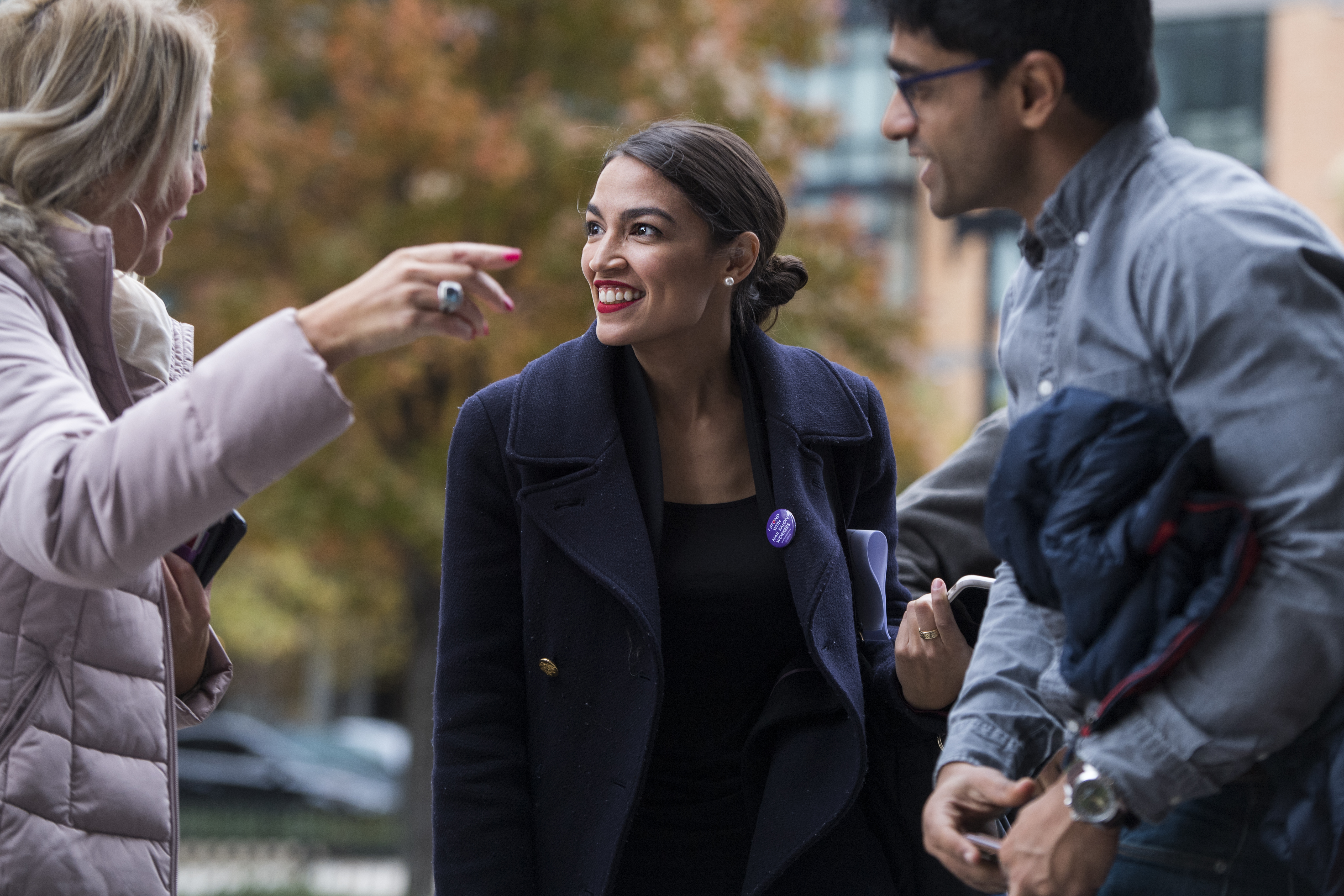 UNITED STATES - NOVEMBER 13: Rep.-elect Alexandria Ocasio-Cortez, D-N.Y., arrives for New Member Orientation at the Courtyard Marriott in SE, on November 13, 2018. (Photo By Tom Williams/CQ Roll Call)