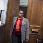 UNITED STATES - NOVEMBER 16: Rep. Marcia Fudge, D-Ohio, walks into her Rayburn Building office after talking with reporters about her possible run for House speaker on November 16, 2018. (Photo By Tom Williams/CQ Roll Call)