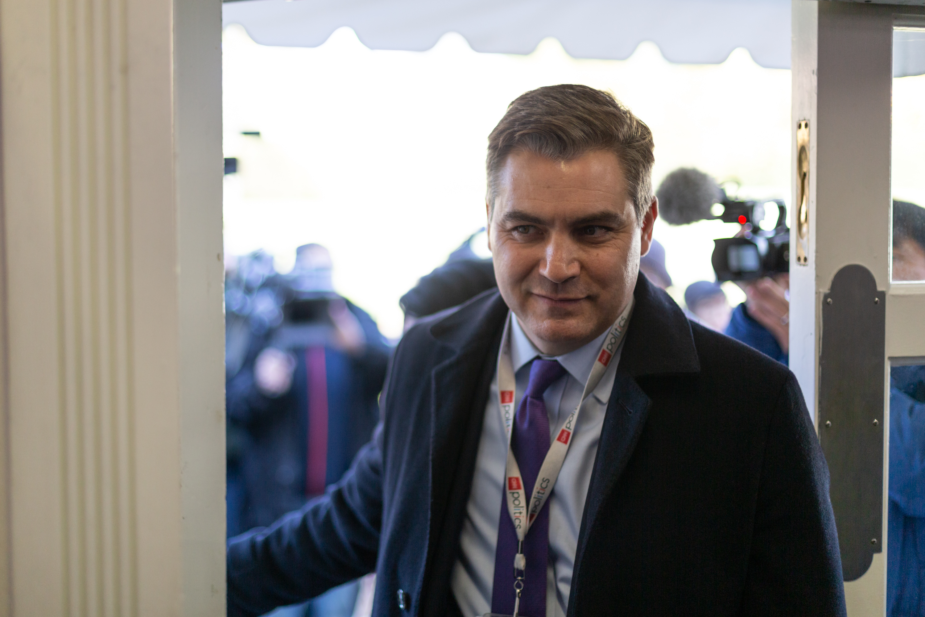 CNN's Jim Acosta's enters the James S. Brady Press Briefing Room of the White House in Washington, D.C., after a judge ordered the Trump Administration to return his press pass. On Friday, November 16, 2018.(Photo by Cheriss May/NurPhoto)