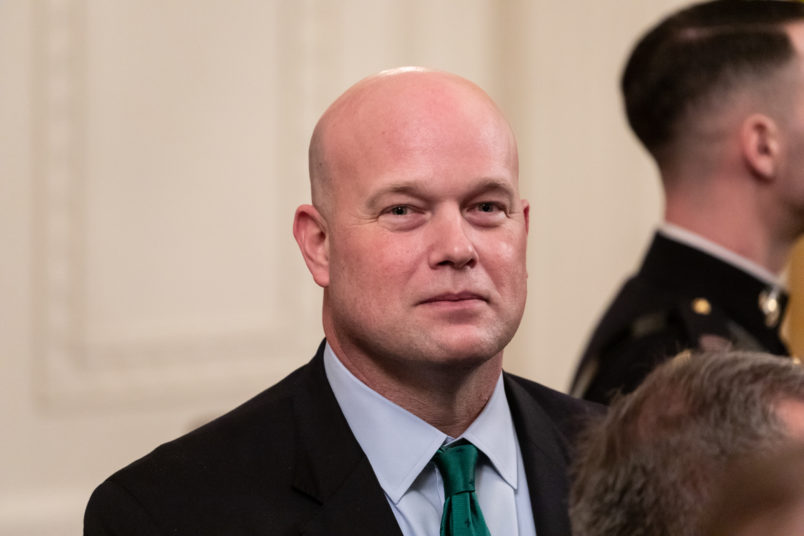 Matthew Whitaker, acting U.S. attorney general, attends the Presidential Medal of Freedom ceremony in the East Room of the White House in Washington, D.C., on Friday, Nov. 16, 2018.(Photo by Cheriss May/NurPhoto)