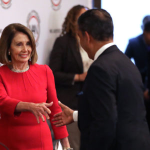 WASHINGTON, DC - NOVEMBER 14: House Minority Leader Nancy Pelosi (D-CA) arrives at a post-midterm meeting of Rev. Al Sharpton's National Action Network in the Kennedy Caucus Room at the Russell Senate Office Building on Capitol Hill November 14, 2018 in Washington, DC. Politicians considering a run for the 2020 Democratic party nomination, including Sen. Elizabeth Warren (D-MA) and Sen. Kamala Harris (D-CA), addressed the network meeting as well as House members vying for leadership positions. (Photo by Chip Somodevilla/Getty Images)