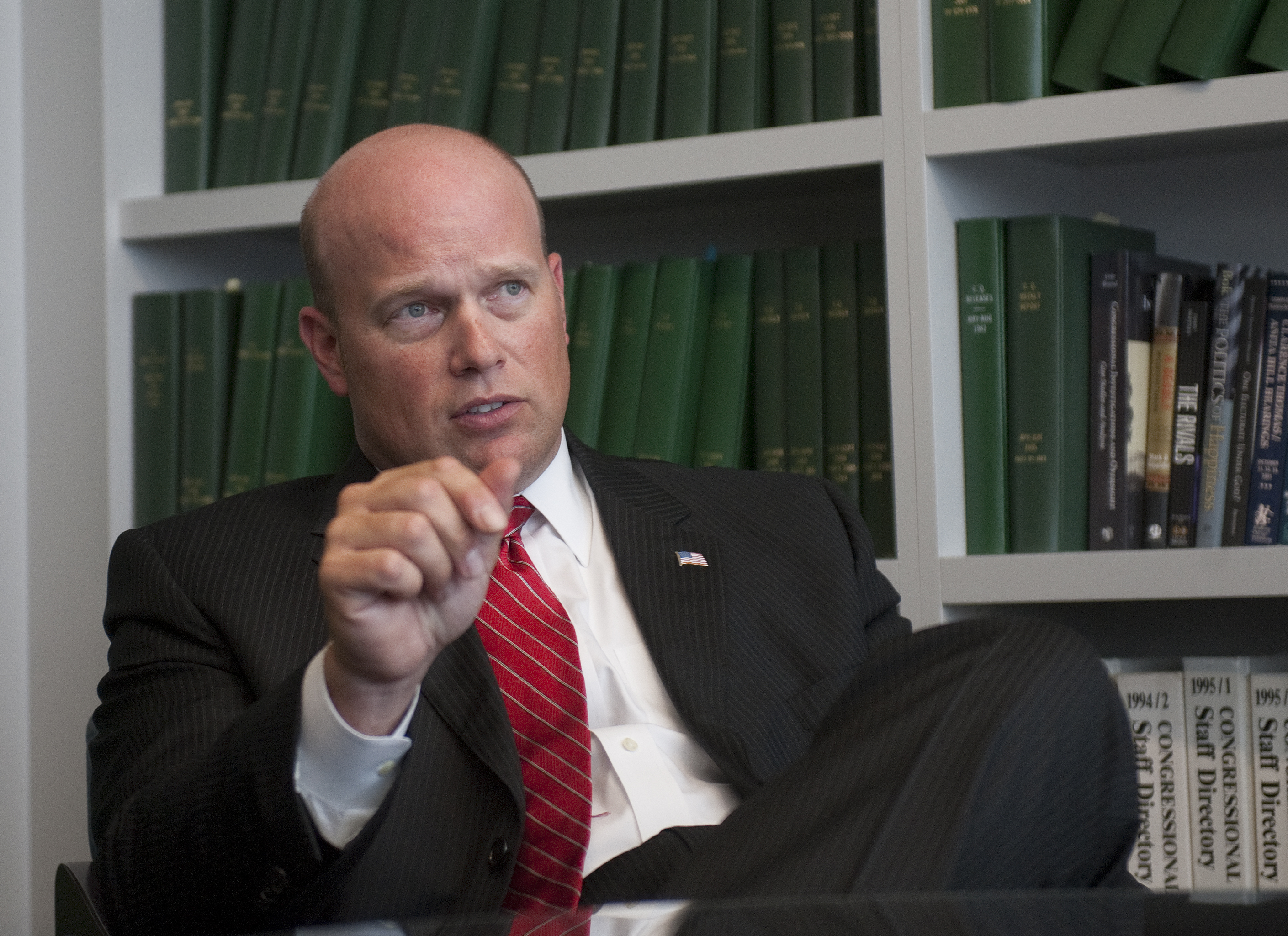 UNITED STATES - July 23: Matt Whitaker (R) Iowa is interviewed at Roll Call office in Washington, D.C. (Photo By Douglas Graham/CQ Roll Call)