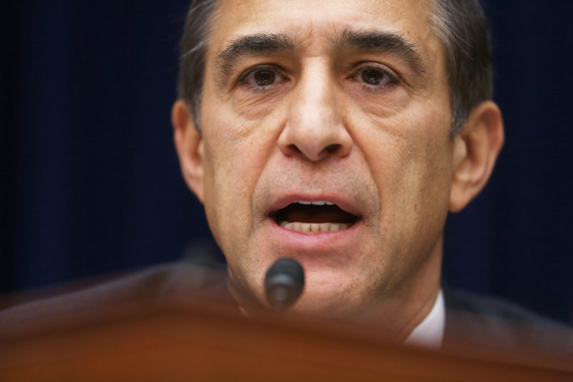WASHINGTON, DC - DECEMBER 09: House Oversight and Government Reform Committee Chairman Darrell Issa (R-CA) questions Massachusetts Institute of Technology Economics professor Jonathan Gruber about his work on the Affordable Care Act during a hearing in the Rayburn House Office building on Capitol Hill December 9, 2014 in Washington, DC. Gruber, who was a consultant paid by the authors of the Affordable Care Act and the Massachusetts universal health care program, called voters stupid and said that Obamacare would not have passed if lawmakers had really known what was inside the legislation during an academic conference earlier this year.  (Photo by Chip Somodevilla/Getty Images)