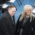 UNITED STATES - JANUARY 20: Sheldon and Miriam Adelson wait for Donald J. Trump to be sworn in as the 45th President of the United States on the West Front of the Capitol , January 20, 2017. (Photo By Tom Williams/CQ Roll Call)