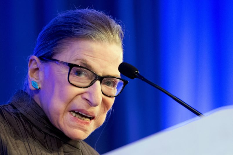 Justice Ruth Bader Ginsburg Out of Hospital after Fall 9 November 2018
