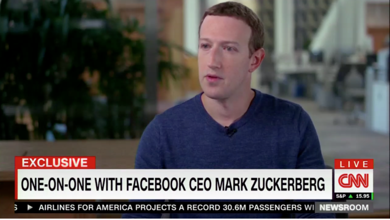 Facebook's Mark Zuckerberg, sounding defiant, says he is not considering resigning