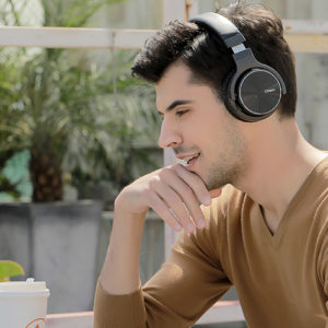 The Cowin E7 Pro Noise Canceling Over-Ear Wireless Headphones create a relaxing oasis during noisy holiday travel.