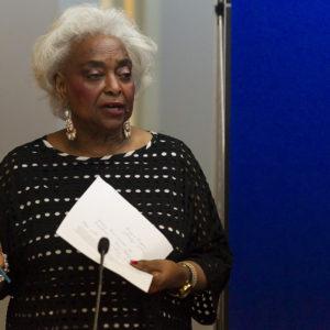 Brenda Snipes, supervisora de Elecciones del Condado Broward, en sus oficinas en Lauderhill, Florida, el domingo pasado. (Matias J. Ocner/Miami Herald)