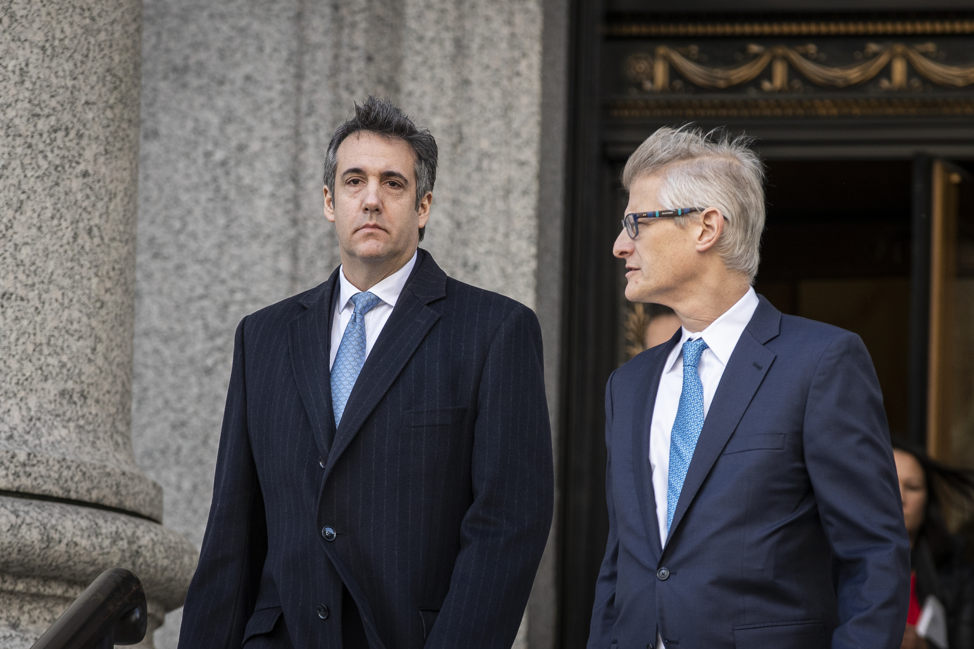 NEW YORK, NY - NOVEMBER 29: Michael Cohen, former personal attorney to President Donald Trump, exits federal court, November 29, 2018 in New York City. At the court hearing, Cohen pleaded making false statements to Congress about a Moscow real estate project Trump pursued during the months he was running for president. (Photo by Drew Angerer/Getty Images)