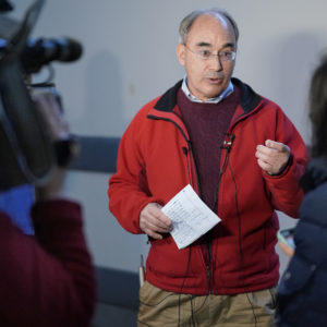 PORTLAND, ME - NOVEMBER 27: Rep. Bruce Poliquin talks to the media during a press conference at the Portland International Jetport on Tuesday, November 27, 2018. Poliquin described the ranked-choice voting process as chaotic and said that his request for a recount in the second district race is necessary to ensure the integrity of the election. (Staff photo by Gregory Rec/Staff Photographer)