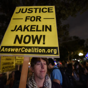 People attend a vigil in memory of Jakelin Caal a 7-year-old Guatemalan girl who died while in U.S. Border Patrol custody. Los Angeles, California on December 17, 2018. Jakelin Caal and her dad were part of a group of migrants who crossed illegally from Mexico into the United States and turned themselves in to Border Patrol. Shortly after being taken into custody, Caal began having seizures and went into cardiac arrest and later died.  (Photo by Ronen Tivony/NurPhoto)