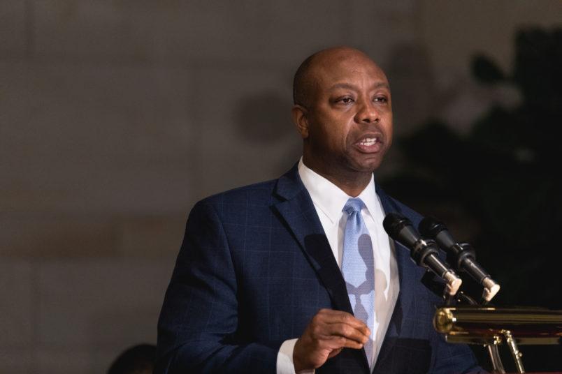 After Chastising Steve King In Op-Ed, Sen. Scott Won't Say Congressman Is Racist