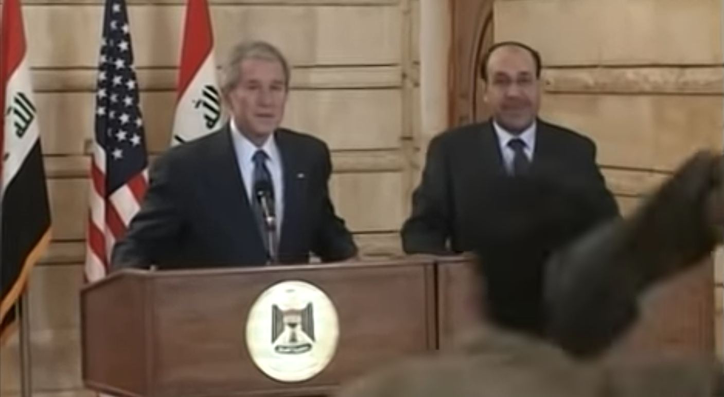 On This Day Ten Years Ago: An Iraqi Journalist Hurled His Shoes At Bush