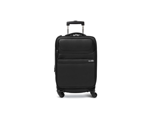 The Genius Pack G4 Carry-On Spinner Case has innovative features like laundry compression technology and designated charger compartments for your most organized trip yet.