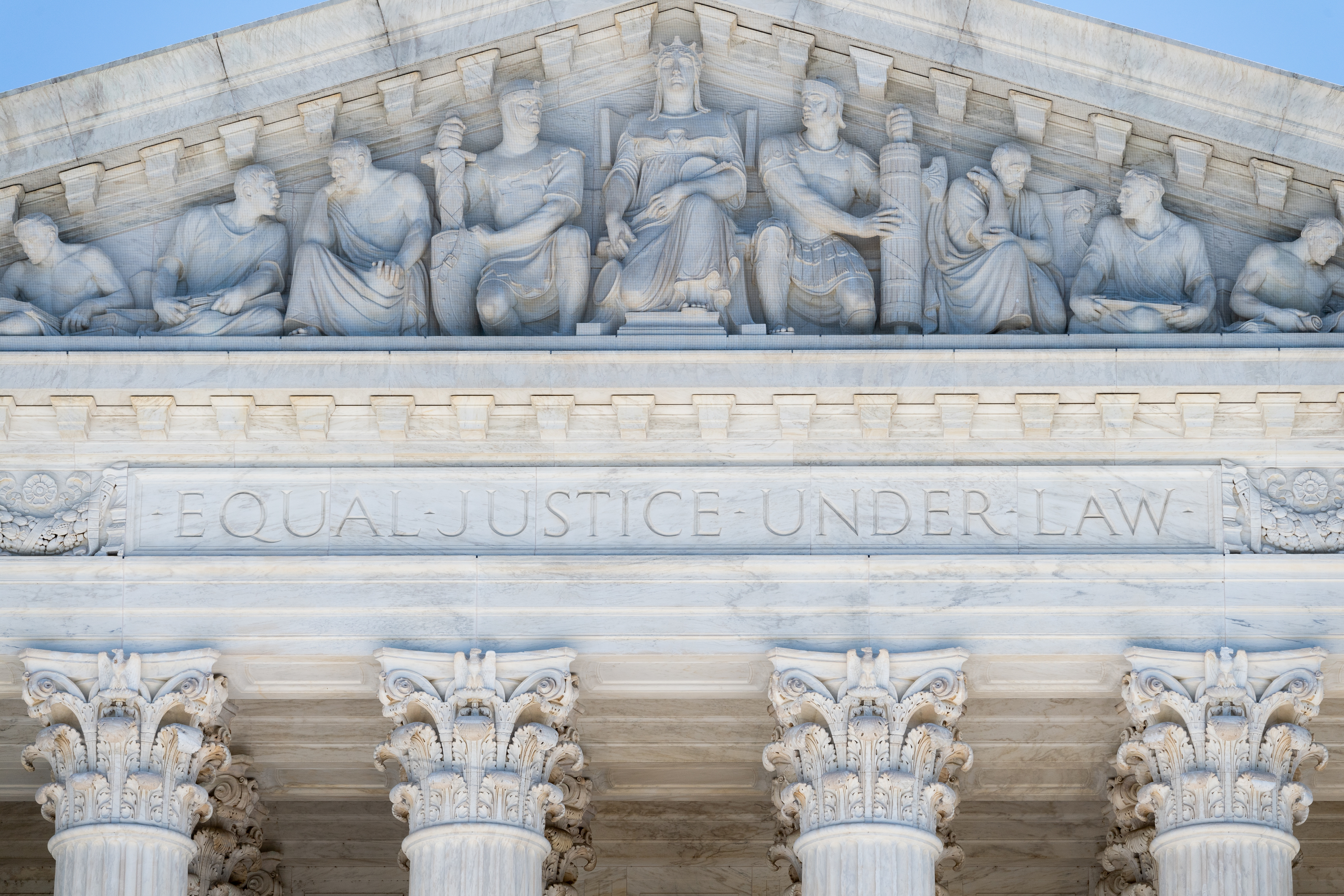 WASHINGTON, DC, UNITED STATES - 2018/08/23: The Supreme Court building in Washington, DC. (Photo by Michael Brochstein/SOPA Images/LightRocket via Getty Images)