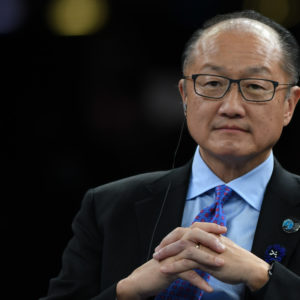 Jim Yong Kim, President of the World Bank, at the Paris Peace Forum, an event that is a part of the commemoration ceremonies to mark the centenary of the 1918 Armistice, at the Villette Conference Hall in ParisThe Paris Peace Forum was created tobring together all actors of globalgovernance to strengthen multilateralismand international cooperation. On Sunday, November 11, 2018, in Paris, France. (Photo by Artur Widak/NurPhoto)