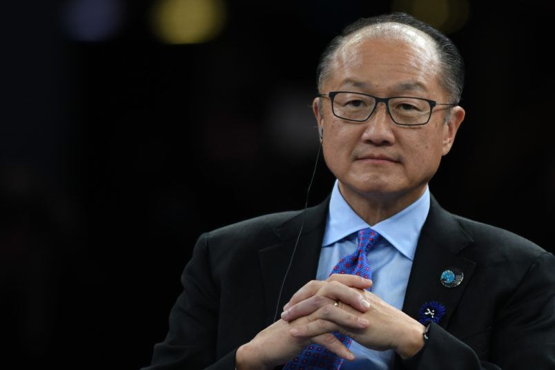 Jim Yong Kim President of the World Bank at the Paris Peace Forum an event that is a part of the commemoration ceremonies to mark the centenary of the 1918 Armistice at the Villette Conference Hall in Paris The Paris Peace Forum was created tobring tog