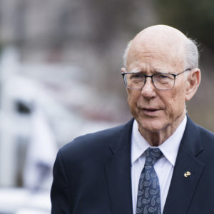 UNITED STATES - DECEMBER 4: Sen. Pat Roberts, R-Kan., arrives for the Senate Republican's policy lunch at the National Republican Senatorial Committee in Washington on Tuesday, December 4, 2018. (Photo By Bill Clark/CQ Roll Call)