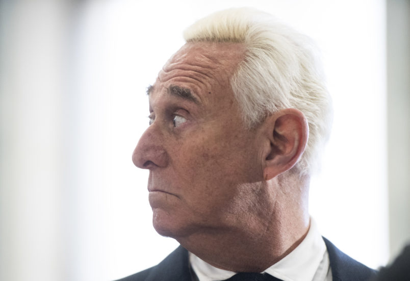 Former Trump adviser Roger Stone says he'll plead not guilty