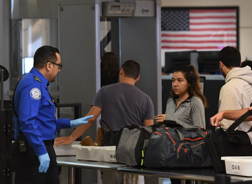 Some TSA officers calling in sick