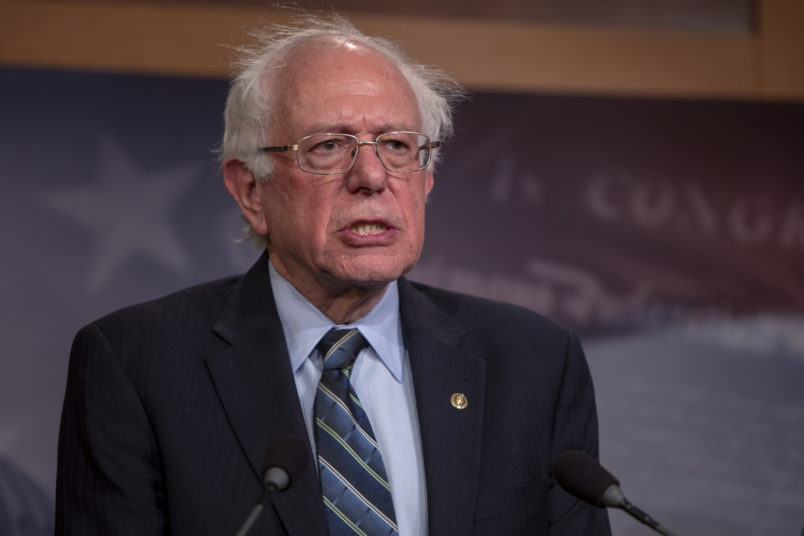 Bernie Sanders apologises for alleged harassment by male staff during 2016 campaign