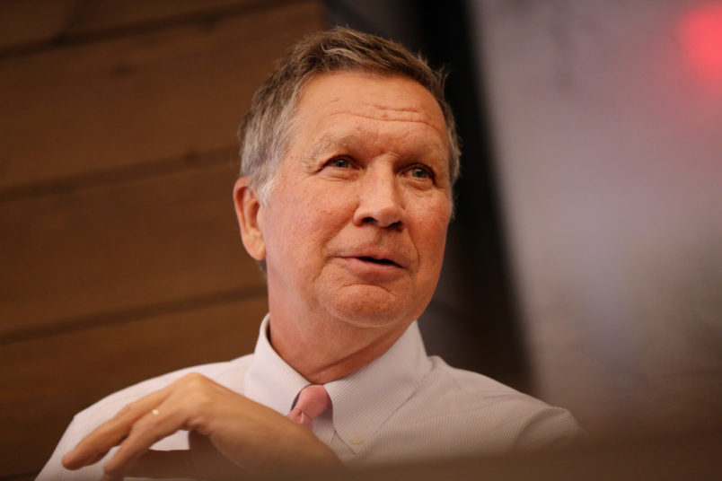 Boston, MA - May 23, 2018: Ohio Governor John R. Kasich during a Editorial Board meeting at the Boston Globe in Boston, MA on May 23, 2018. (Craig F. Walker/Globe Staff) section: metro reporter: