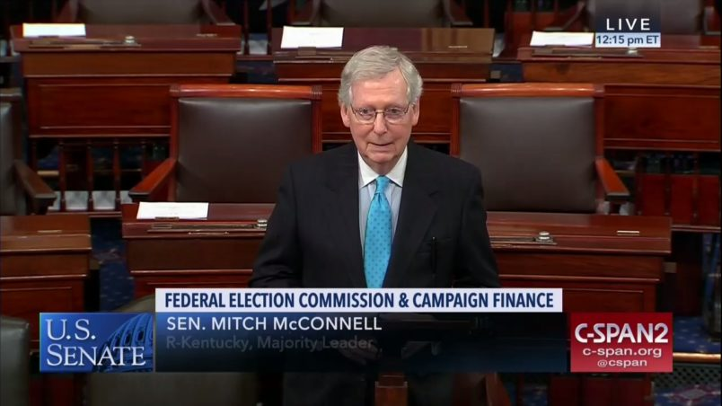McConnell Ridicules Making Election Day A Federal Holiday