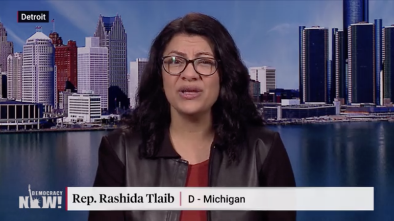 Rashida Tlaib's swearing-in attire prompted a lovely #tweetyourthobe hashtag