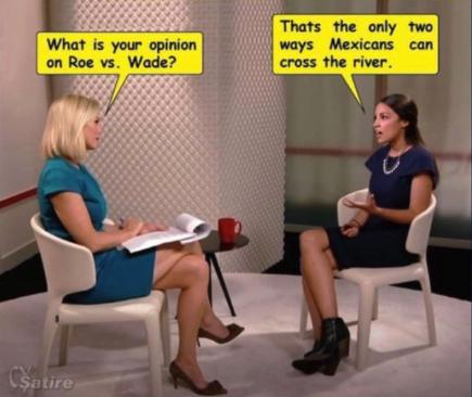Image result for ny congresswoman cortez roe vs wade meme