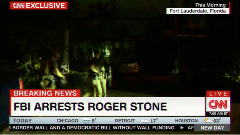 Trump associate Roger Stone arrested by Federal Bureau of Investigation  in pre-dawn raid