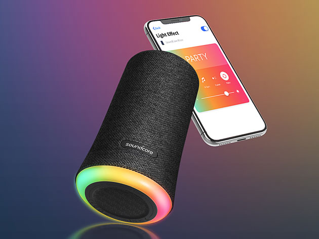 The Soundcore Flare Bluetooth Speaker offers top-tier audio with a colorful flair.