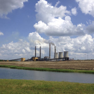 A panoramica view of the Paradise Fossil Plant in Drakesboro Ky., on Tuesday, June 3, 2014, shows in the foreground across lake the clearing for the new natural gas burning plant.  The new $1 billion facility will replace two coal burning units at the plant beginning in 2017.