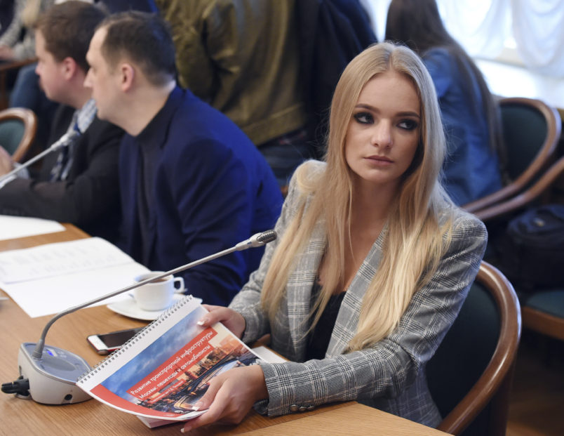 Kremlin press secretary's daughter scores internship with right-wing European Parliament member