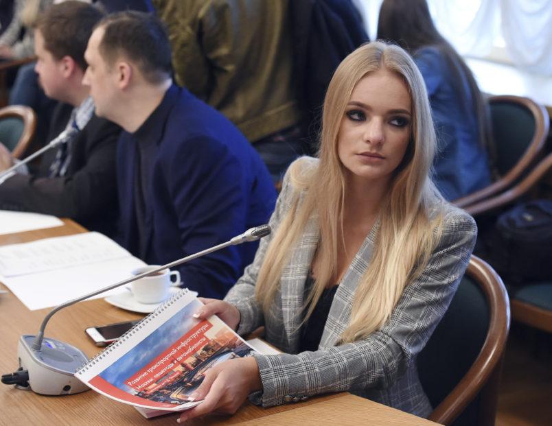 Kremlin press secretary's daughter scores internship with right-wing European Parliament member