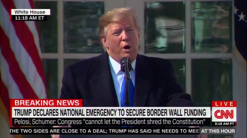 Trump to Declare National Emergency as He Signs Border Security Bill
