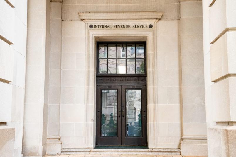 WASHINGTON, DC, UNITED STATES - 2018/11/12: Internal Revenue Service building in Washington, D.C. (Photo by Michael Brochstein/SOPA Images/LightRocket via Getty Images)