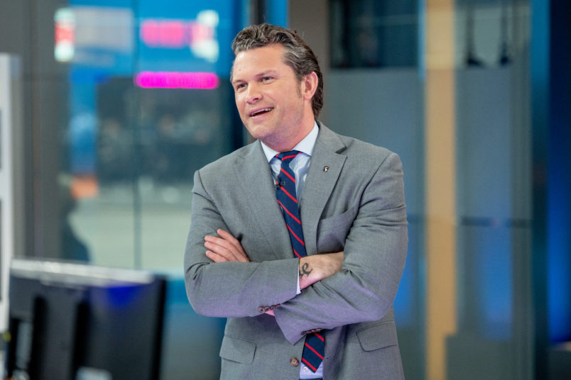 Fox News Host Pete Hegseth Causes Hubbub Over Hand-Washing