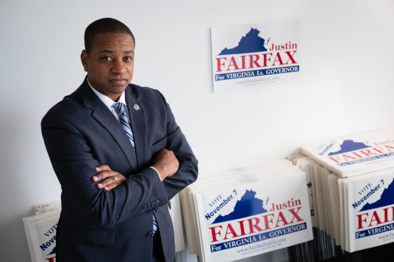 ARLINGTON, VA - SEPTEMBER 13: Justin Fairfax, the Democratic candidate for Virginia lieutenant governor is pictured during an interview at his campaign headquarters in Arlington, VA on Wednesday September 13, 2017. (Photo by Sarah L. Voisin/The Washington Post)