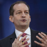 UNITED STATES - FEBRUARY 22: Labor Secretary Alex Acosta is interviewed during the Conservative Political Action Conference at the Gaylord National Resort in Oxon Hill, Md., on February 22, 2018. (Photo By Tom Williams/CQ Roll Call)