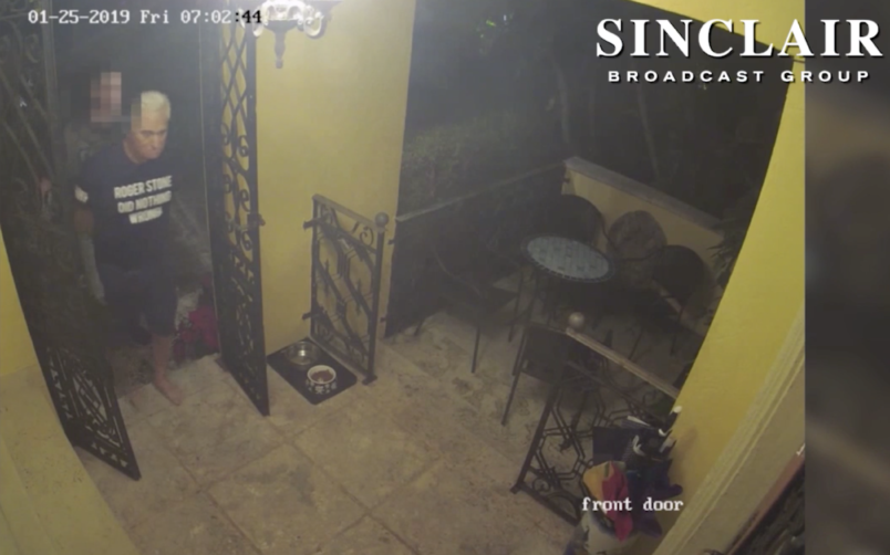 Sinclair Airs Surveillance Video Of Roger Stone's Arrest
