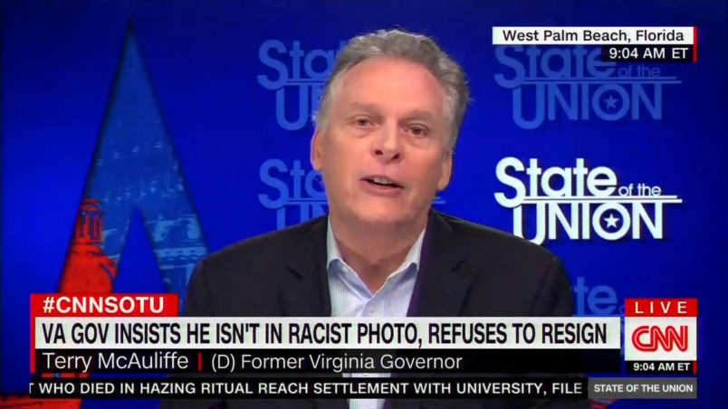 Former Virginia Gov. McAuliffe Calls For Sitting Gov. Northam To Step Down
