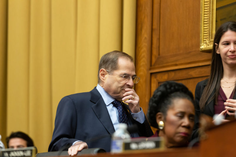 House Judiciary Committee Chairman Jerrold Nadler (D-NY), (L), enters the hearing for the testimony of  Acting U.S. Attorney General Matthew Whitaker before the House Judiciary Committee on the special counsel investigation into Russian interference in the 2016 election, on Capitol Hill in Washington, D.C., on Friday, February 08, 2019. (Photo by Cheriss May/NurPhoto)