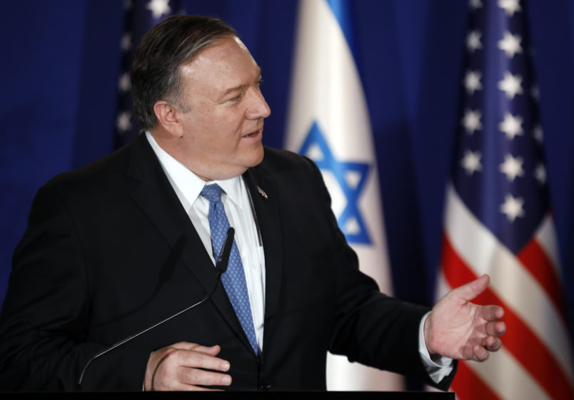 Pompeo: Donald Trump may have been sent to save the Jewish people