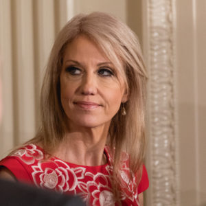 White House Counselor to the President Kellyanne Conway, was in attendance for the joint press conference of U.S. President Donald Trump, and Prime Minister Malcolm Turnbull of Australia, in the East Room of the White House, on Friday, February 23, 2018. (Photo by Cheriss May/NurPhoto)