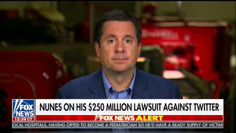 US Rep. Devin Nunes sues Twitter, users for defamation and negligence