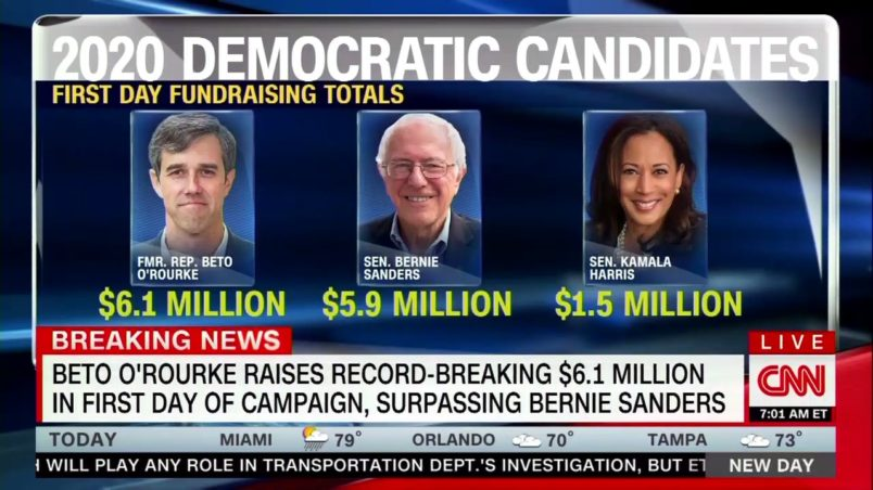 Beto O'Rourke raises staggering $6.1 million after announcing 2020 run